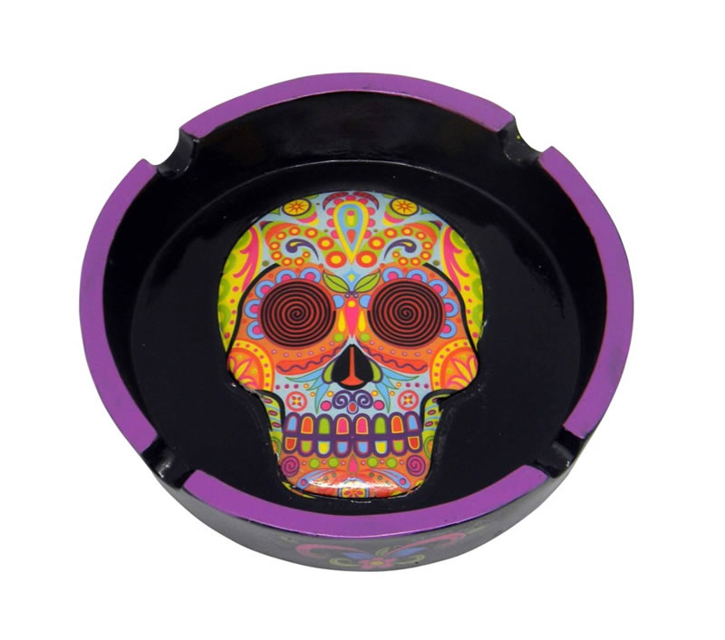Day of the Dead Multi Colored Ashtray