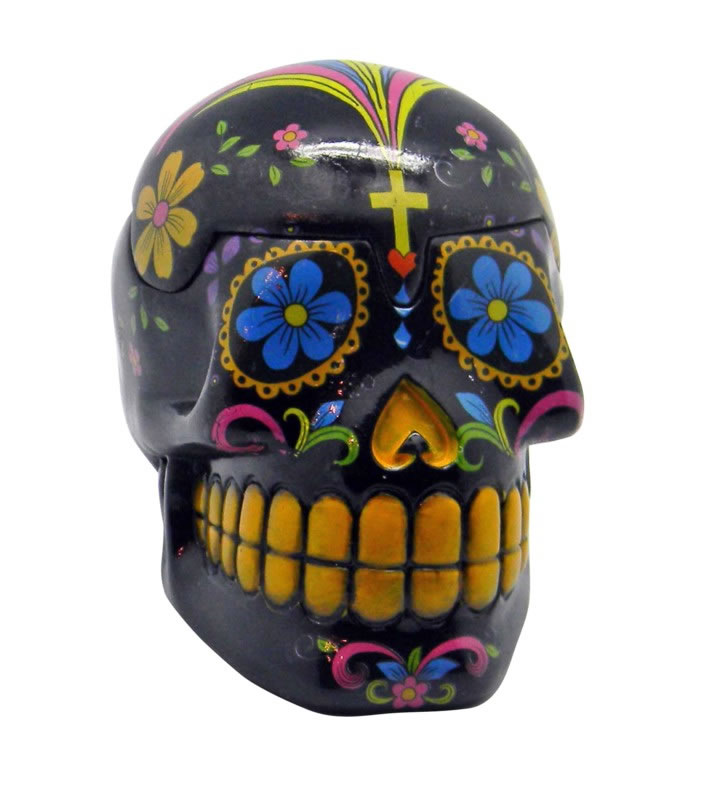 Black Day of the Dead Skull Box