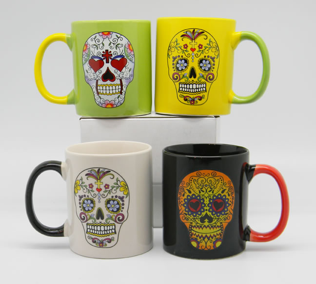 Day of the Dead 4 Coffee Mug Set