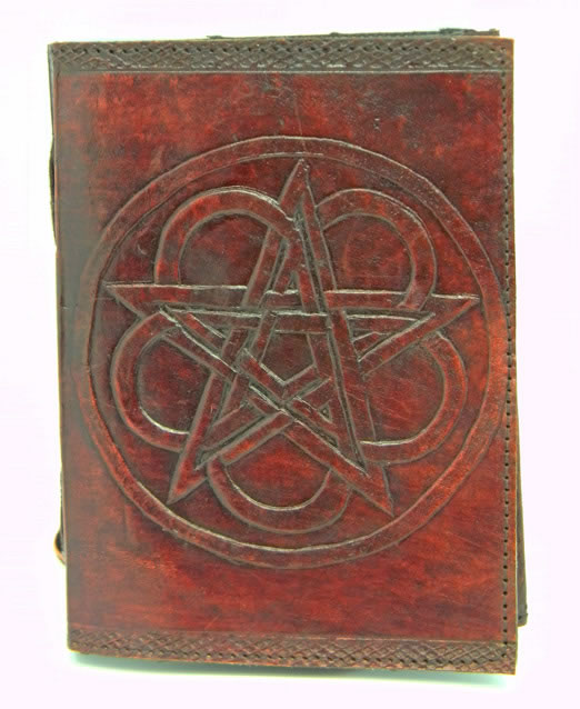 Leather Embossed Pentagram Journal