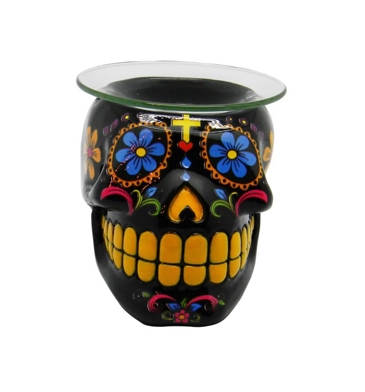 Black Day of the Dead Oil Burner