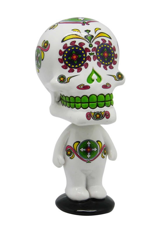 White Day of the Dead Bobblehead