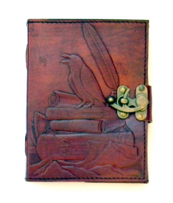 Sabrina Raven LEATHER Journal 5 x 7 inches