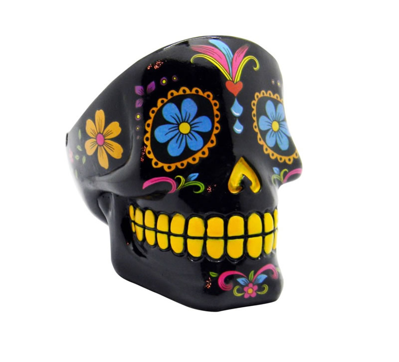 Black Day of the Dead Ashtray