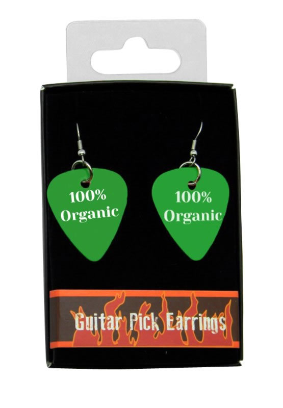 100% Organic Guitar Pick Earrings