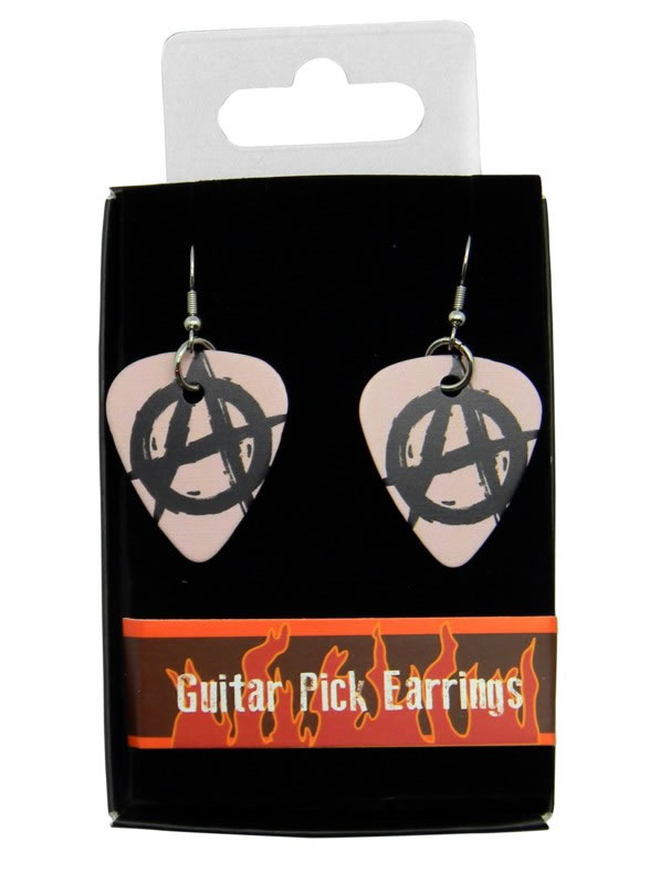 Anarchy Guitar Pick Earrings