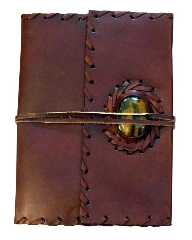 Tiger Eye Leather Embossed Journal