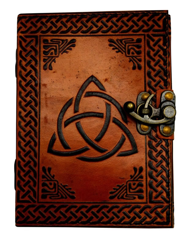 5 x 7 inch Triquetra 2 Color Leather Embossed Journal