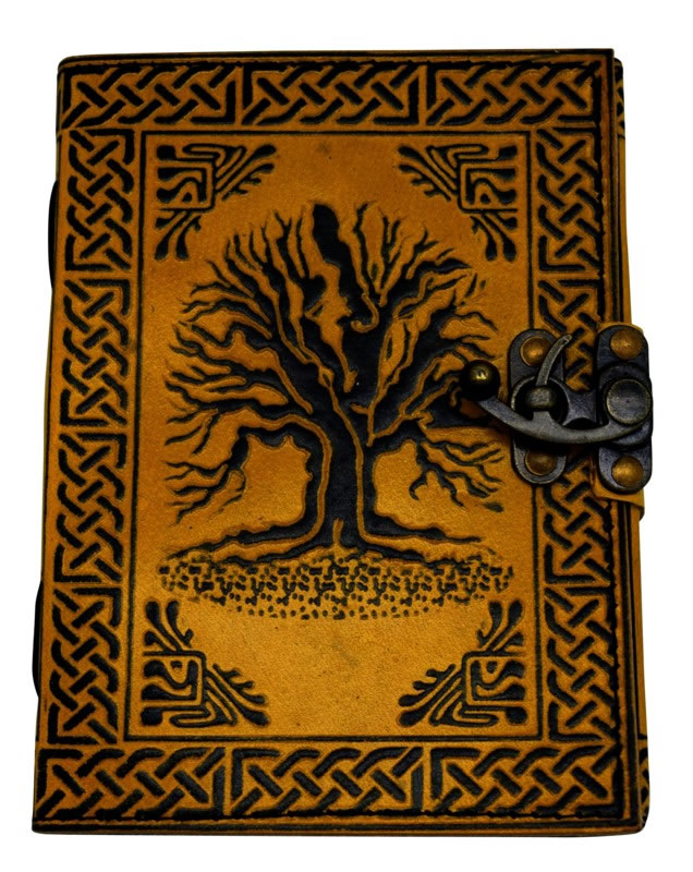5 x 7 inch 2 Color Tree of Life Leather Embossed Journal