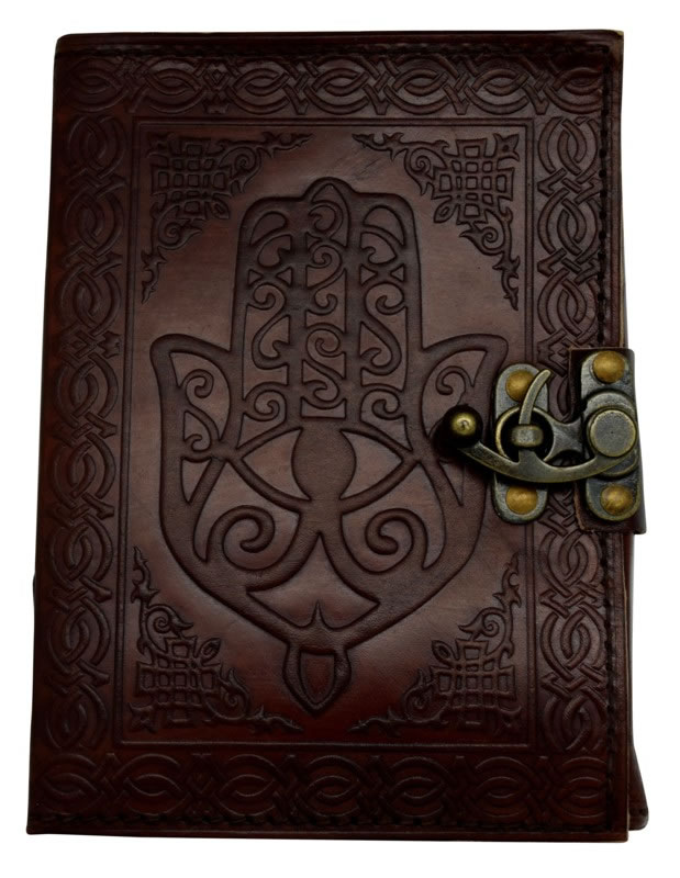 5 x 7 inch Hamsa Hand Leather Embossed Journal