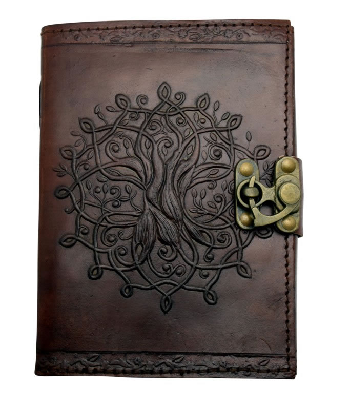 NEW Tree of Life Leather Journal Brown  5 x 7