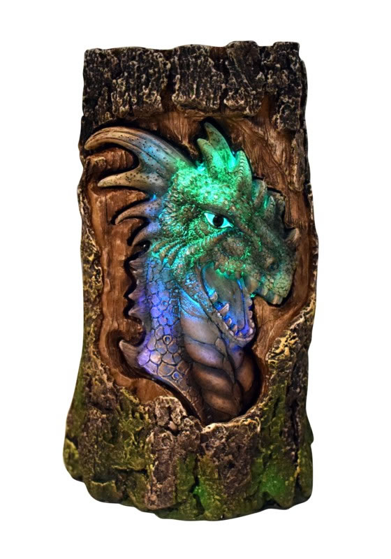 LED Dragon Log Light
