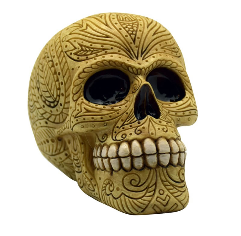 Bone Colored Sugar Skull Bank