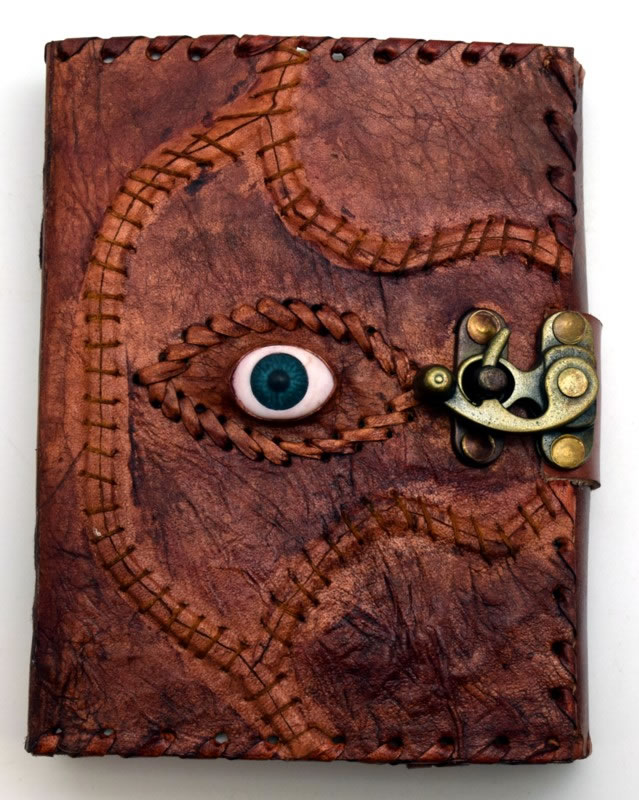 Leather Embossed Sacred Eye Journal