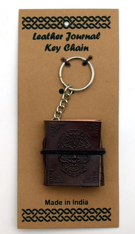 Day of the Dead Leather Embossed Key Chain