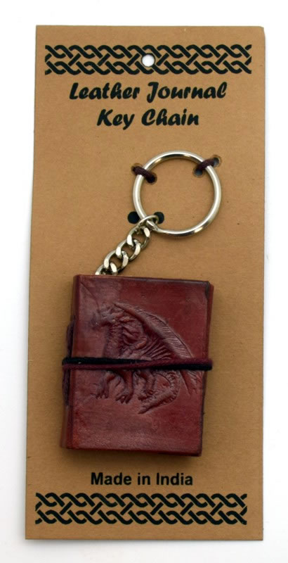 Dragon Embossed Leather Journal Key Chain