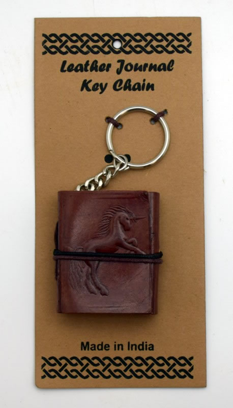 Unicorn Leather Embossed Journal Key Chain