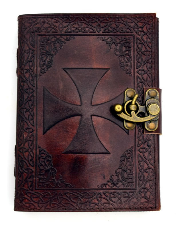 Knights Templar Leather Embossed Journal