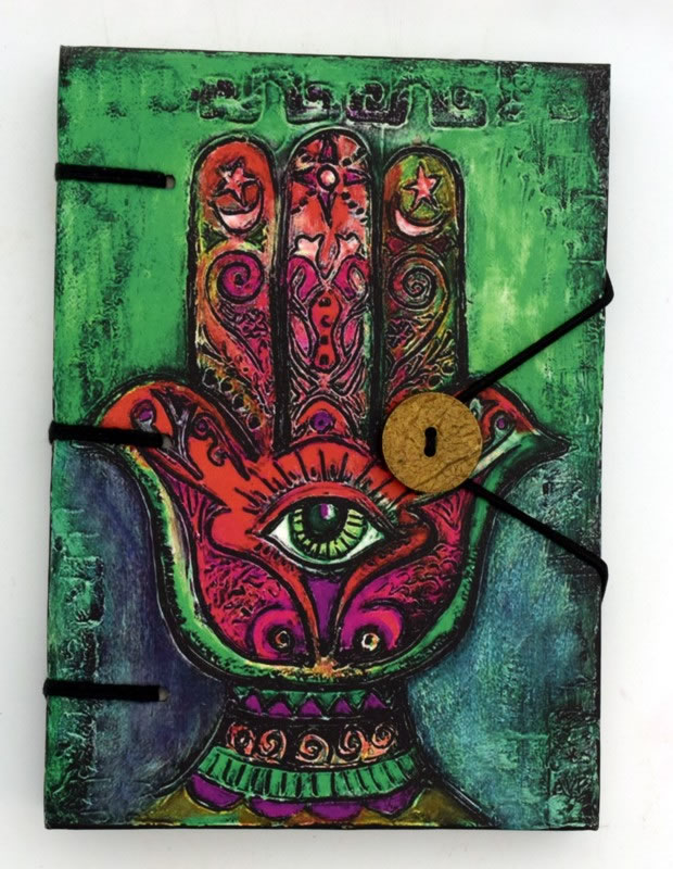 Paper Hamsa Hand Journal