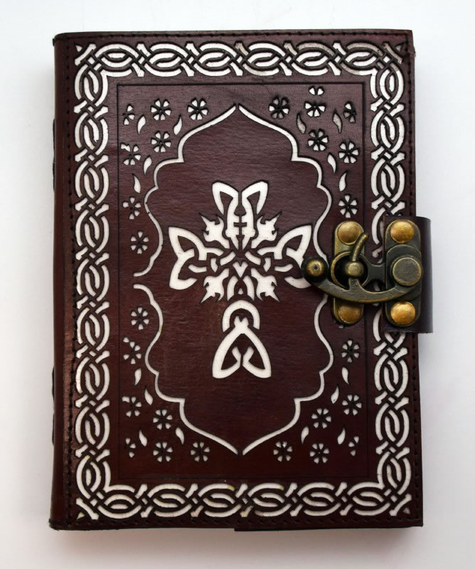 Celtic Cross Leather Die Cut Journal