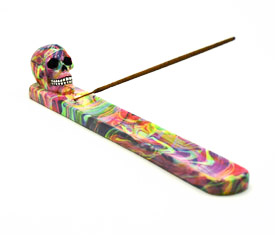 Tye Dye Skull Incense Burner