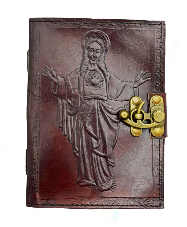 Jesus Leather Embossed Journal
